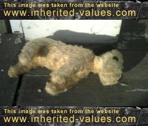 sweet-vintage-sawdust-stuffed-toy-dog-sleeping