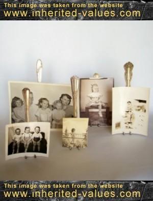 vintage-fork-easels-displying-vintage-photographs