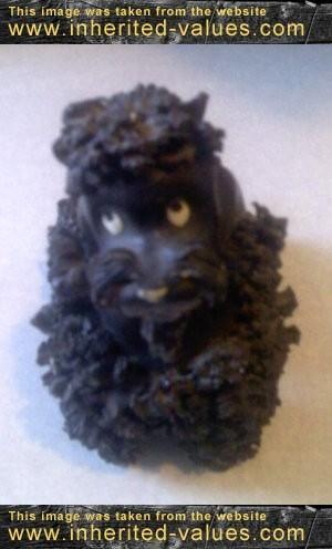 dusty vintage ceramic figurine