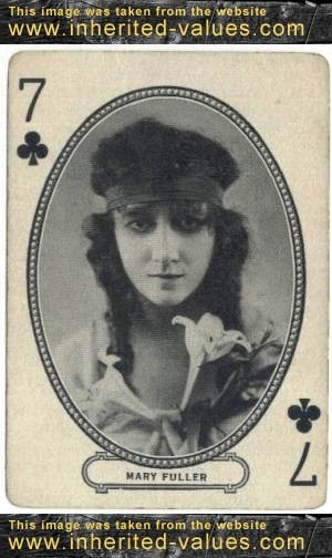 Mary Fuller on a circa 1916 MJ Moriarty Playing Card