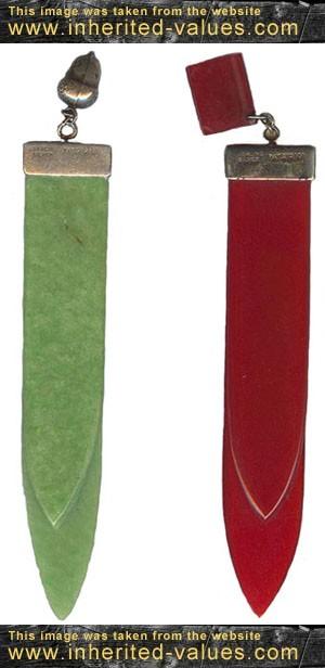 vintage bookmarks with bakelite