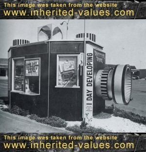 vintage shutter shak film developing stand