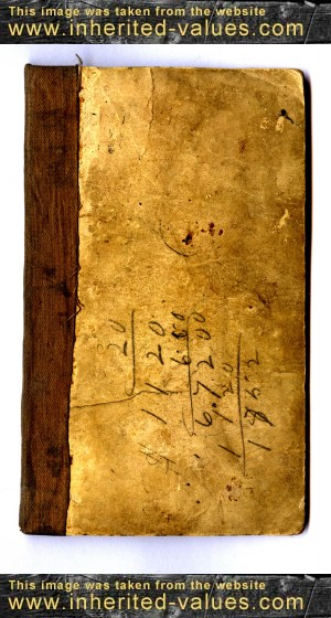 antique book plain