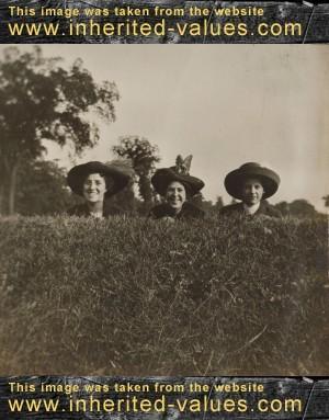 three graces vintage antique photographs snapshots