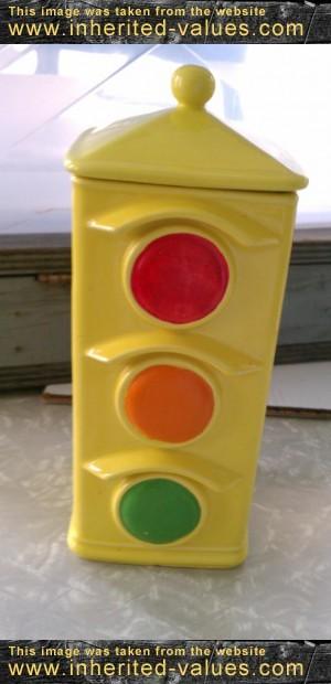 vintage mccoy pottery traffic light cookie jar