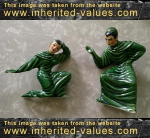 vintage asian pottery figurines