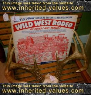 vintage wild west rodeo toy set