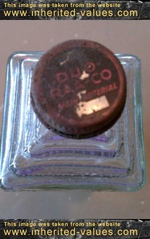 vintage embalming fluid bottle cap