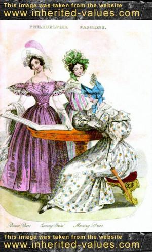 Godey's Philadelphia Fashions July-1833