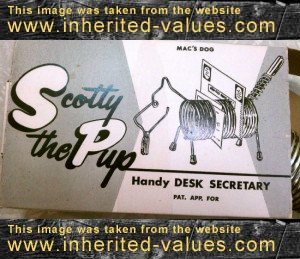 vintage scotty the pup box