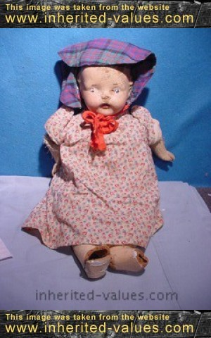 polly dolly vintage composition doll