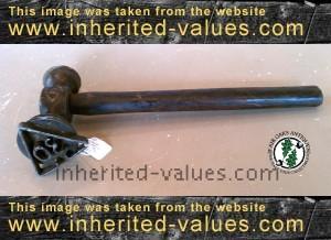 antique lumber tree marker hammer