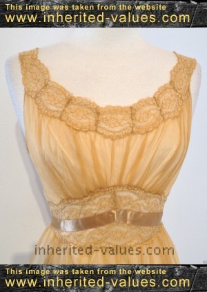 bodice of Vintage VANITY FAIR lingerie