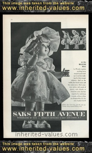 saxs fifth ave sophie fashions walker doll