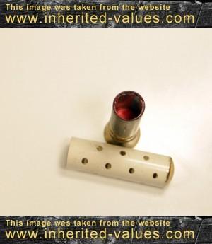 vintage polkadot lipstick tube case