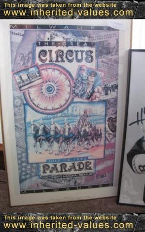 1992 milwaukee great circus parade poster