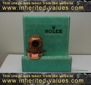 rolex diver helmet stand vintage advertising