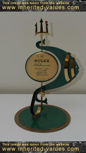 rolex submariner vintage posiden trident ad display