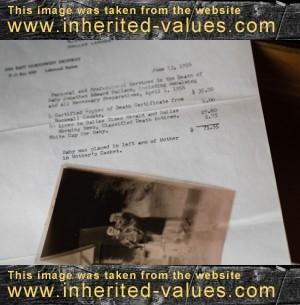 burial receipt photograph norm diamond