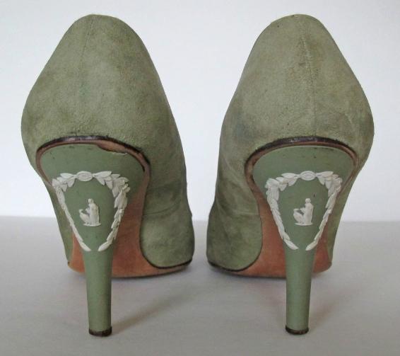 Vintage 50's 60's Wedgwood Jasperware Women's High Heels Shoes