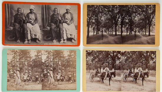 antique african american slave black americana stereoviews