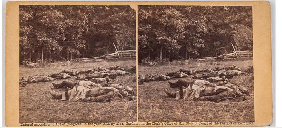 civil war death stereoview