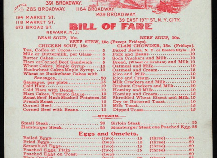 Collecting Vintage Restaurant Menus